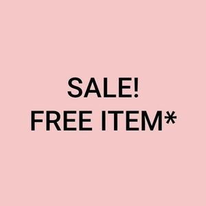 Free item with purchase!*